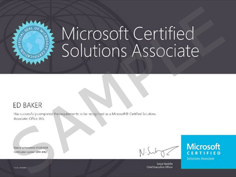 Microsoft Certified Solution Associate (MCSA)